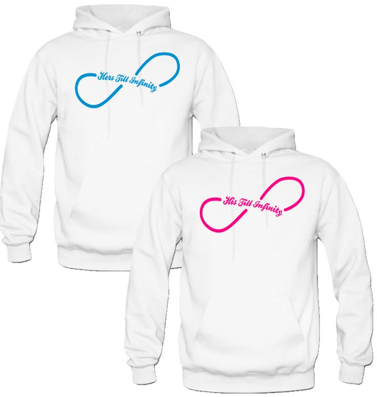 HIS TILL INFITI HERS TILL INFINITI DESIGNED Couple Hoodie