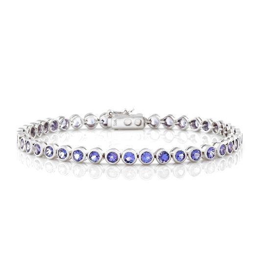 18 carat white gold tanzanite bracelet