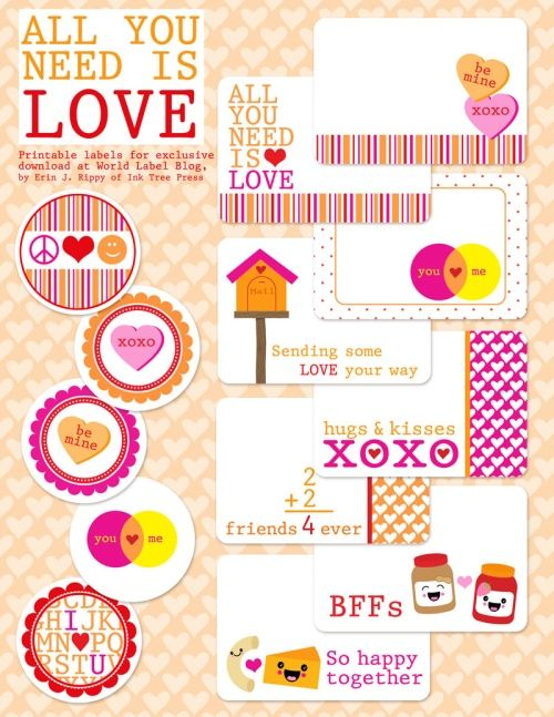 67 best images about valentine s day labels templates and