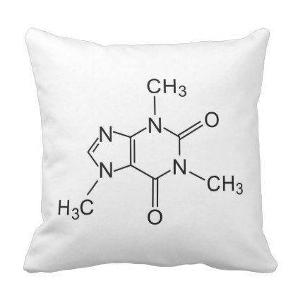 caffeine chemical formula coffee chemistry element throw pillow - coffee custom unique special