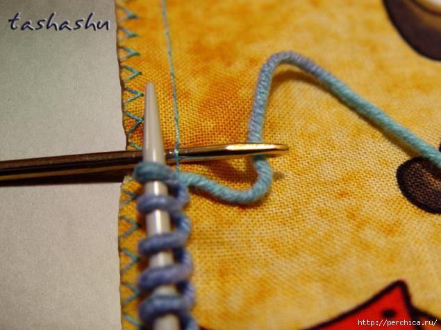 Чудо находка для вязальщиц - Как набрать петли на ткани при комбинированной вязке. Обсуждение на LiveInternet - Российский Сервис Онлайн-Дневников
