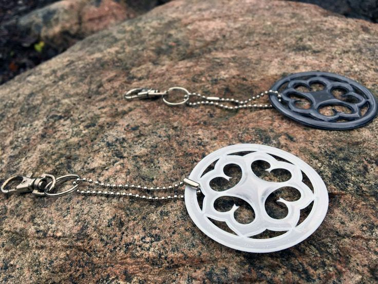 A new product has arrived for sale at Villa Hiidenmäki – Hiisi Hill Collection reflectors! Inspiration for this reflector comes from a bronze brooch dating back to Merovingian Age (approx. 550-800 AD) which was found in Hiidenmäki, Jämsä. Reflectors are made in Finland.  Price: 12€ Colours: white and grey Ask about the reflectors: info(at)villahiidenmaki.fi, +358 (0)40 148 6141
