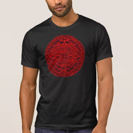 Aztec Calendar - red T-Shirt - click/tap to personalize and buy