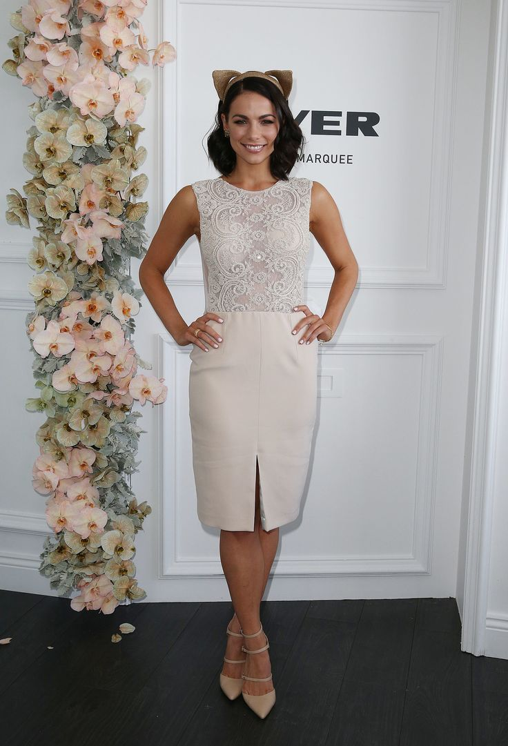 Maddy King looking Amazing in Mira Mandic at the Melbourne Cup Races
