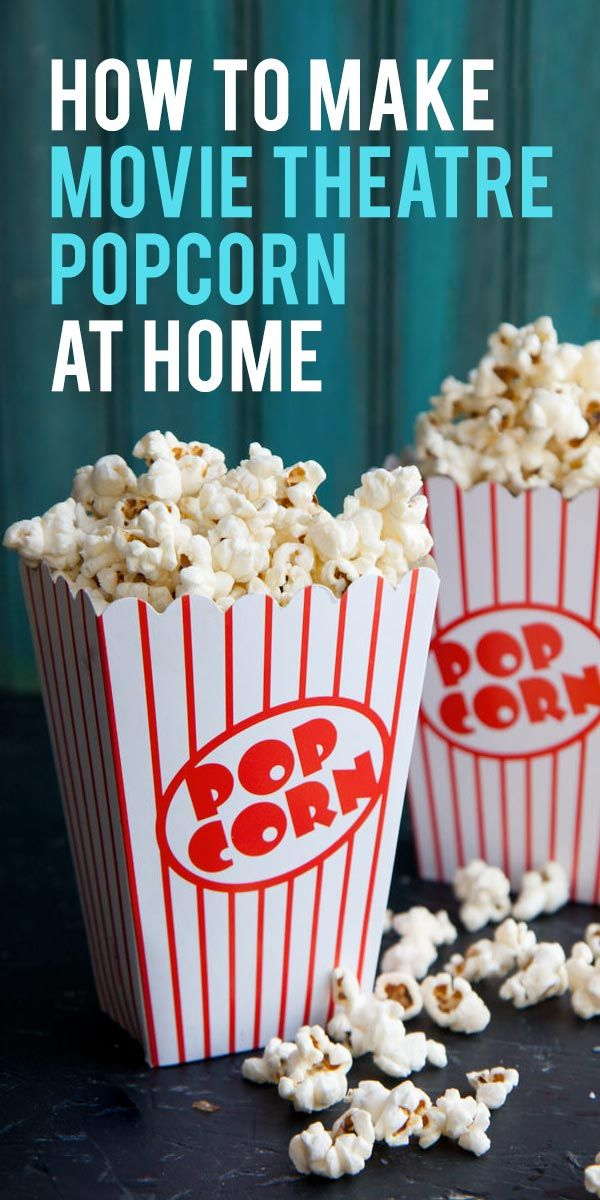 Skip the expensive concession stand and make buttery, delicious movie theatre popcorn at home with this simple step-by-step tutorial.