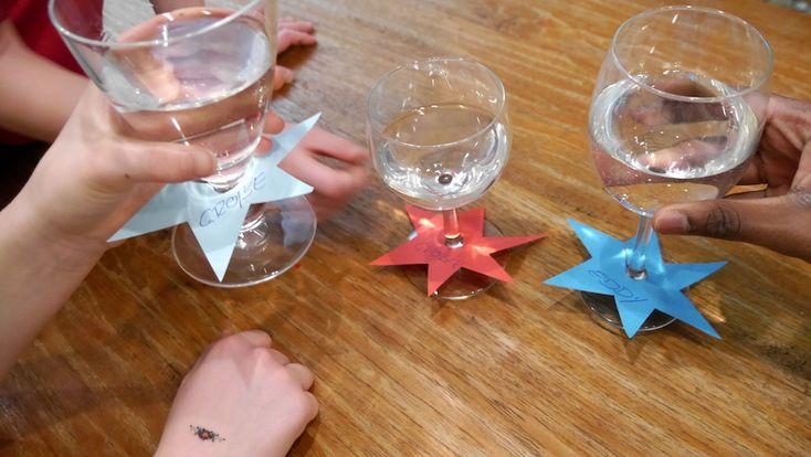 Silvesterspiele für Familien mit Kindern - hier: Gläserkennung basteln!