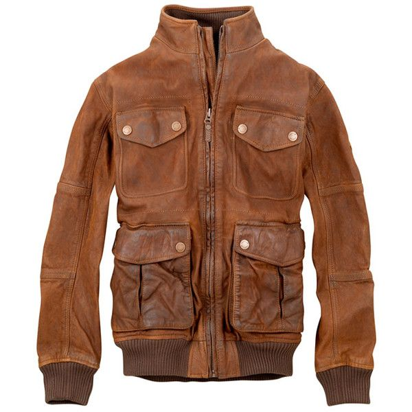 Leshire Cocoa Brown Bomber Jacket ($10) ❤ liked on Polyvore featuring outerwear, jackets, leather bomber jackets, real leather bomber jacket, genuine leather jackets, leather jackets and blouson jacket