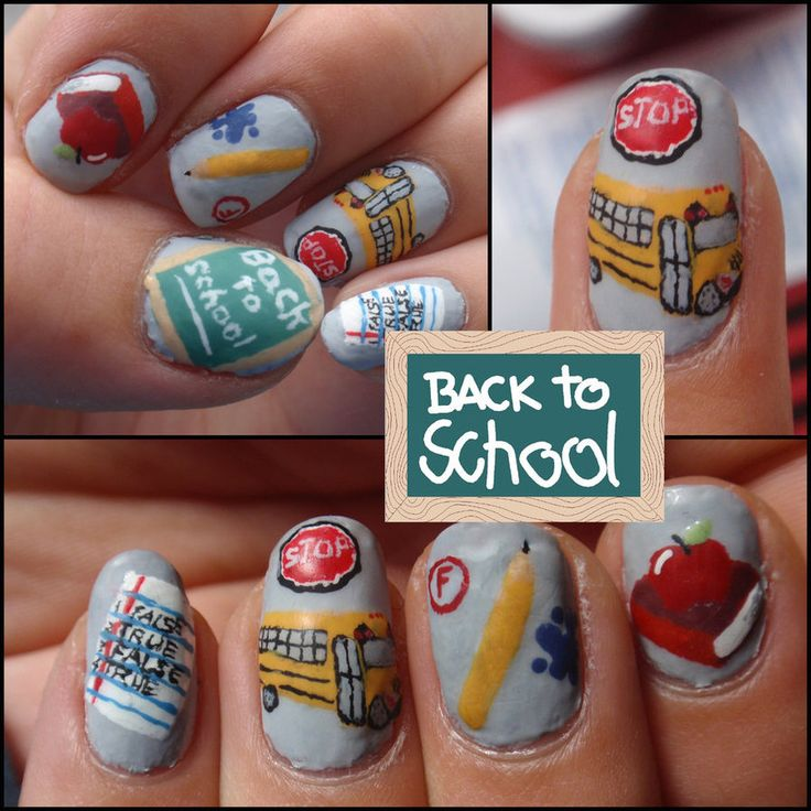 Back To School - Nail Art