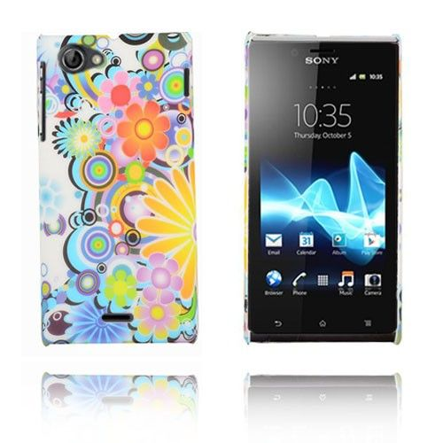 Flower Power (Flerfarget) Sony Xperia J Etui
