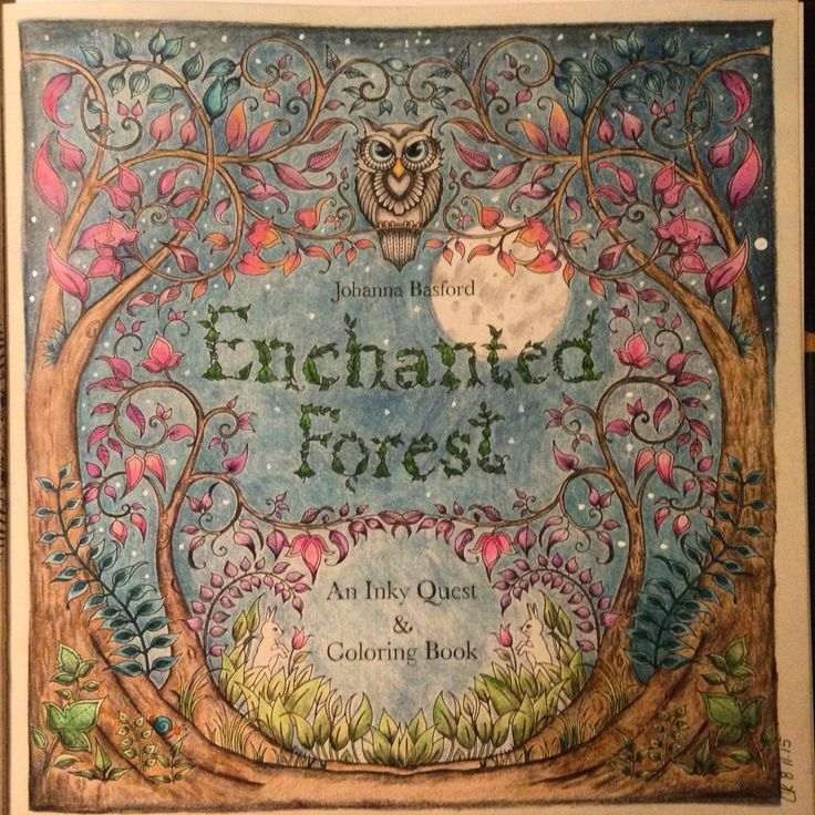 Johanna Basford Enchanted Forest Title Page
