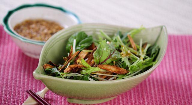 揚げごぼうサラダの薬味ドレッシングのレシピ・作り方 - 無料レシピまとめ【レシぽん】 提供元:ボブとアンジー