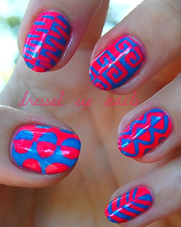 : Nails Art, Nails Design, Blue, Pin Today, Funky Nails, Nails Polish, Neon Nails, Color Nails, Cool Design