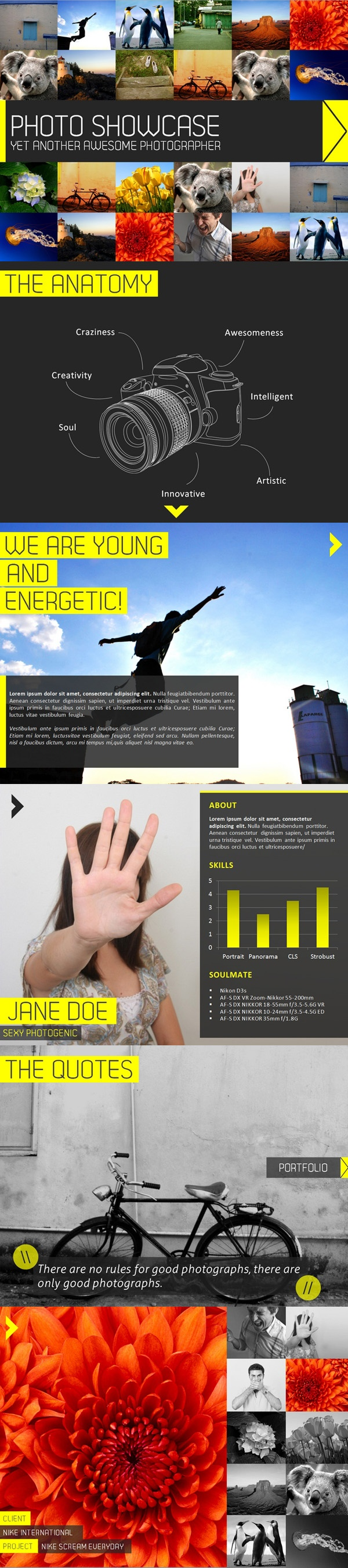 Photography Showcase PowerPoint Presentation