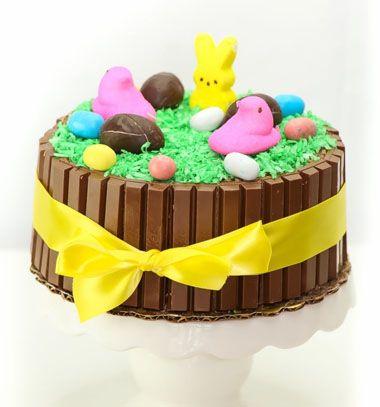 DIY Easter Kit-kat cake - cake decorating tutorial // Húsvéti Kit-kat torta kókuszreszelék fűvel egyszerűen // Mindy - craft tutorial collection // #crafts #DIY #craftTutorial #tutorial