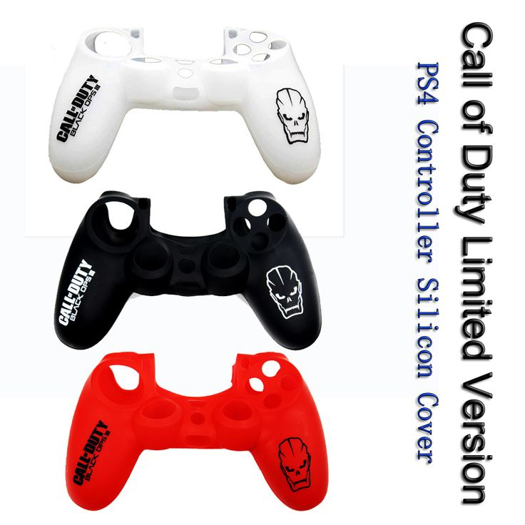 Call of Duty Theme Soft Silicone Cover Case Protection Skin For Sony Playstation 4 Dualshock 4 Controller PS4 Console Decals