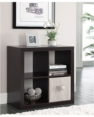 Better Homes and Gardens Square 4-Cube Organizer, Multiple Finishes from Walmart | BHG.com Shop. Wonder if anyone has used these, seem similar to Ikeas Expedit series???