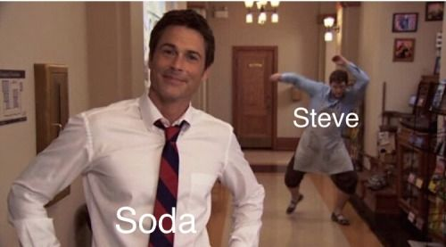 "Its even funnier because ""Soda"" in this picture is actually soda. That's Rob Lowe, he played Soda in the movie."