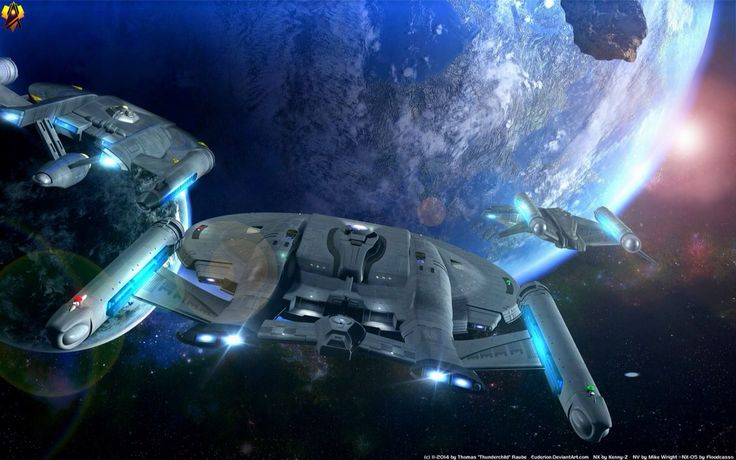 Star Trek USS Enterprise NX-05, NX-01 & NV Class Intrepid
