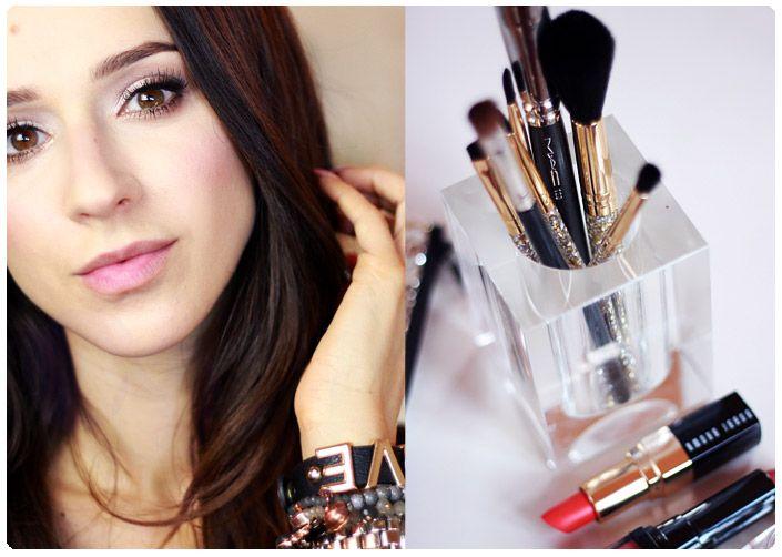 Alina Rose Makeup Blog: Lekcje makijażu dla początkujących: jak zagęścić i rozmyć linię rzęs, tworząc mocno cieniowaną 'kreskę'.