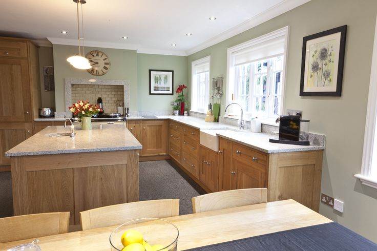 light oak cabinets in kitchen with paint colour like benjamin moore camouflage or november rain