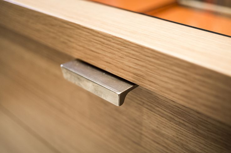 Drawer pull, custom closet millwork