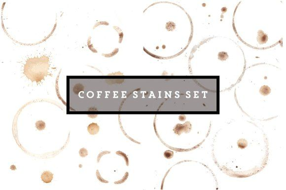 Mega set of coffee stains by OneVectorStock on @creativemarket