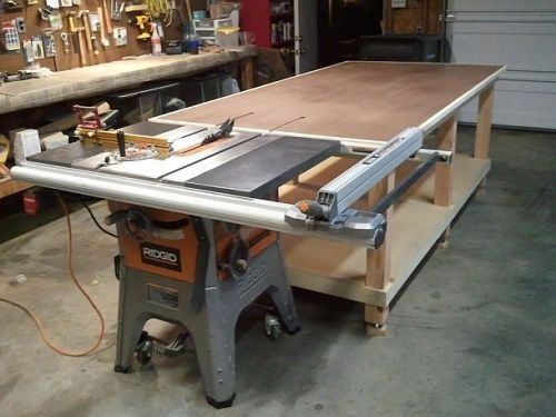 My 4x8 Rolling Work Bench Outfeed Jpg Woodworking Bench