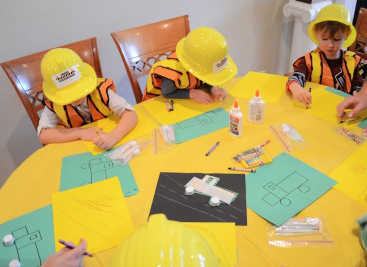 Bauarbeiter Kindergeburtstag Mottoparty   Indoor Spiele