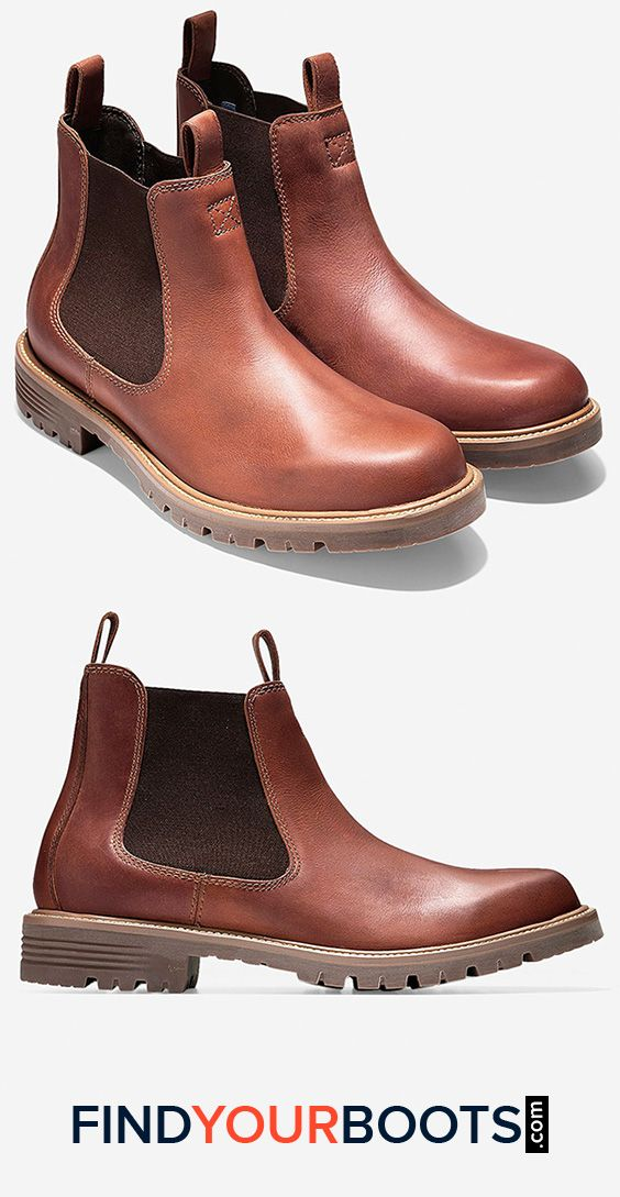Cole Haan mens waterproof chelsea boots - Stylish rain boots for men