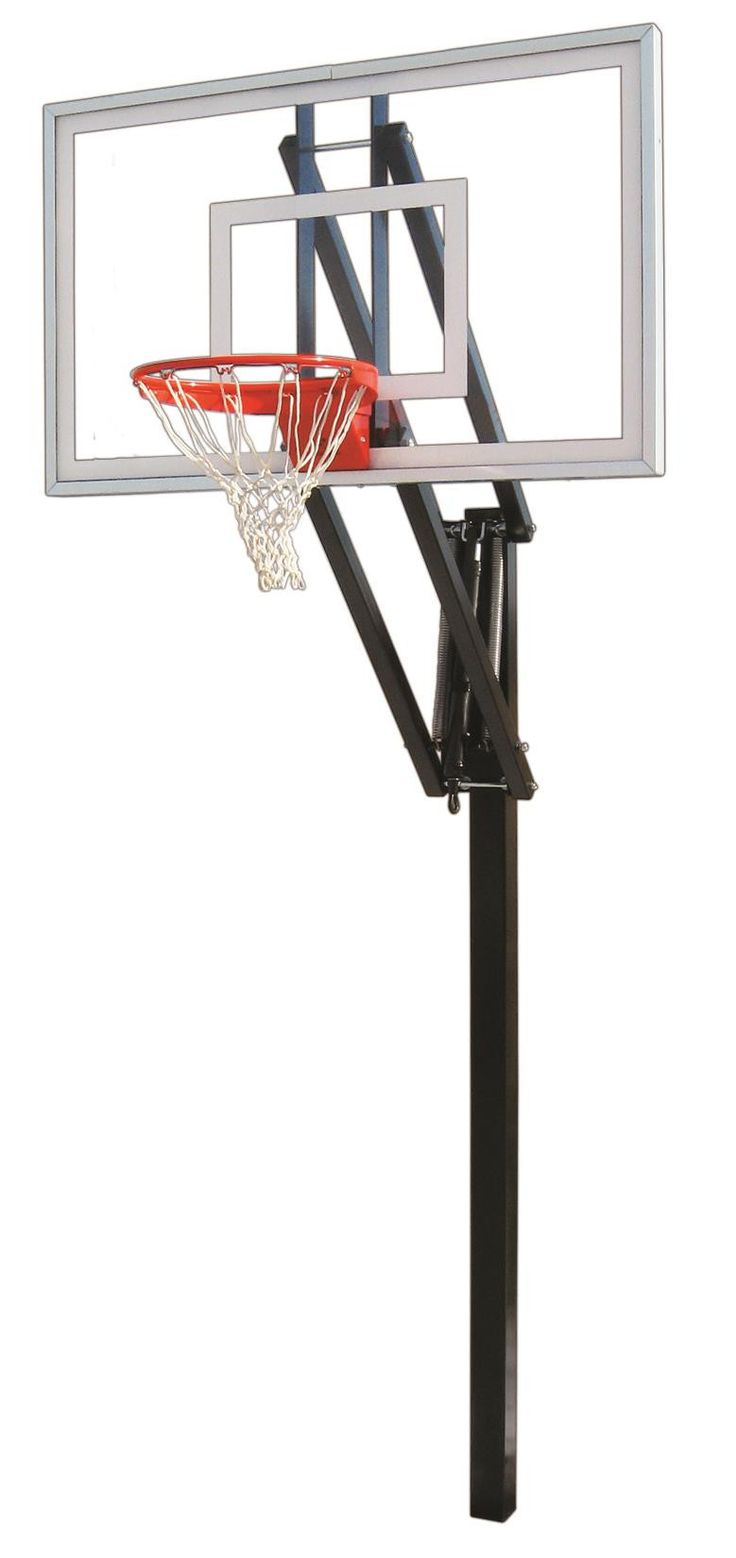First Team Vector Nitro In Ground Outdoor Adjustable Basketball Hoop 60 inch Tempered Glass from NJ Swingsets