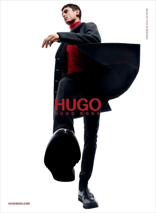 Arthur Gosse by Daniel Sannwald for HUGO by Hugo Boss Fall/Winter 2015-16. Styling: Tom Van Dorpe; Makeup: Fulvia Farolfi; Production: Sylvia Farago.