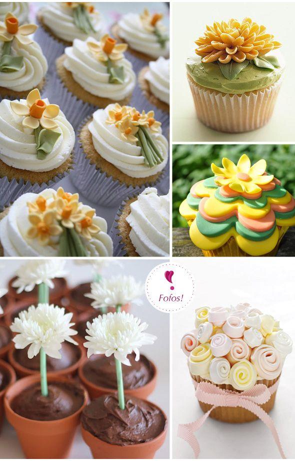 Yellow Flowers Cupcakes