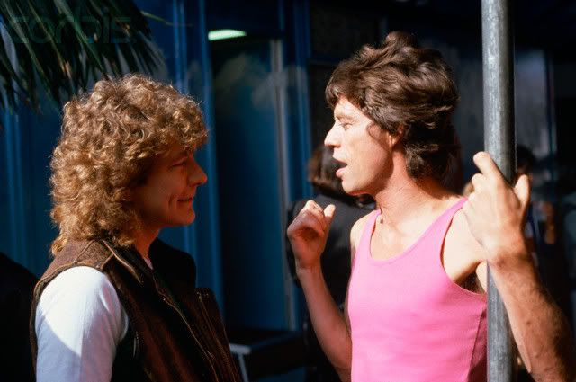 Robert Plant and Mick Jagger