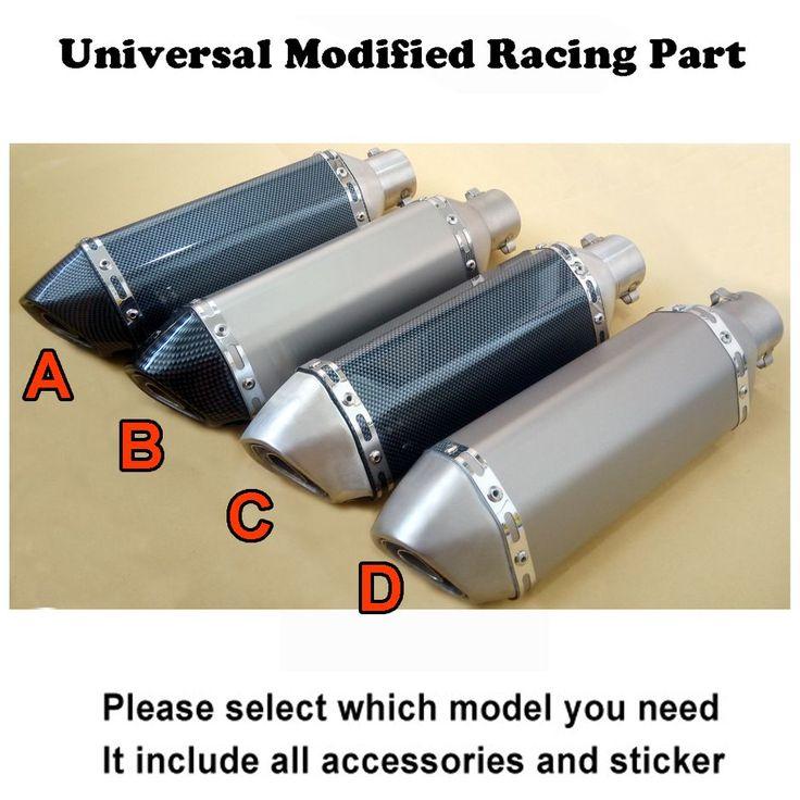 Universal Sepeda Motor Knalpot Modifikasi pipa Untuk AKRAPOVIC Meredam YOUSHIM kebanyakan sepeda motor CB400 CBR600 YZR YZF R1 E6 TTR GSXR750