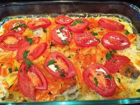 ФИЛЕ ТИЛАПИИ ( любой рыбы) запеченное в сливках , с овощами. Tilapia fillet (any fish) baked . - YouTube