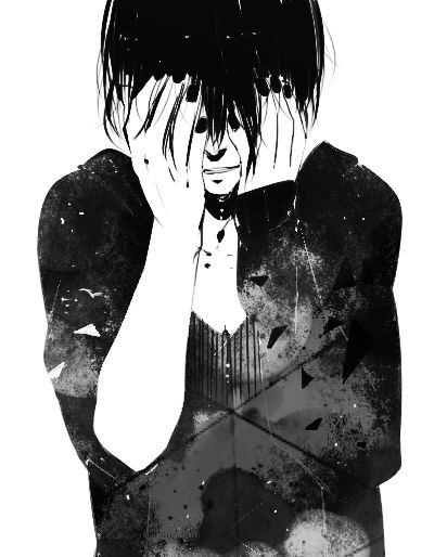 Anime black and white and manga image males - Black and white anime pictures ...