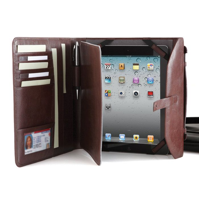 Compatible with All-New iPad Tablet! Mix business with leather. Designed to fit your iPad/iPad 2 tablet, our Leather Tablet Mini Brief combines the classic good looks of a leather briefcase with the compact portability of a portfolio to take you effortlessly through your business day.
