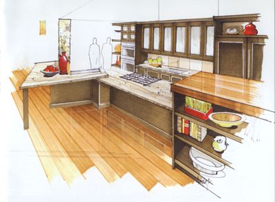 Interior Rendering Sketch Architecture Sketches Drawing Architectural Drawings Portfolio Design Markers Dream Rooms Kitchens