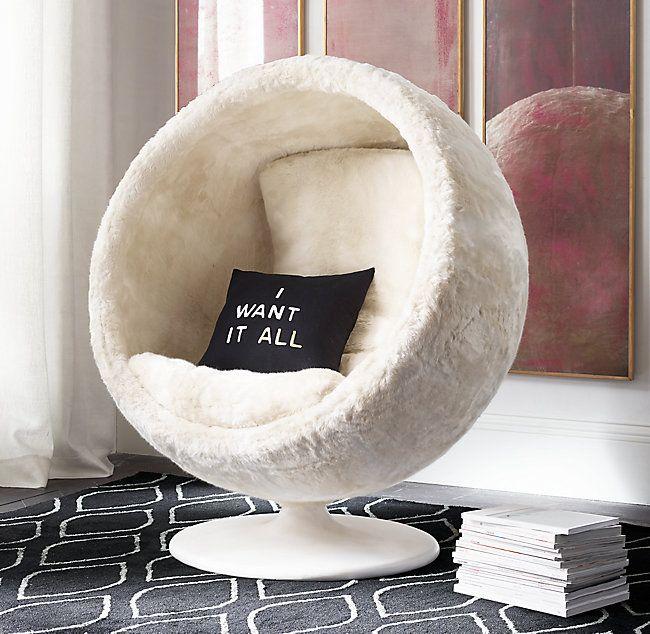 Orbit Luxe Faux Fur Chair Teenage Girl Bedroom Decor Bedroom Seating Girl Bedroom Decor