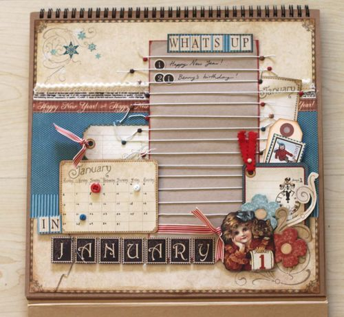 Place in Time Calendar Tutorial: Day Two. Make your own January Calendar page with this step-by-step tutorial by @Sharon Ngoo! What a brilliant idea! #graphic45 #tutorials