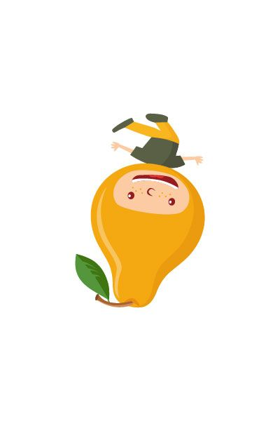 Pear Kid Vector #pear #vector #fruits #handdrawvector http://www.vectorvice.com/fruit-kids-vector-pack