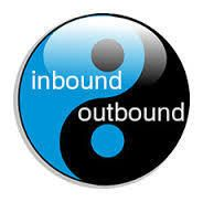 The inbound call center handles incoming calls such as computer support lines.   The outbound call center is like a telemarketing group that are making the calls.