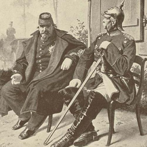 Napoleon III (France) and Otto von Bismarck (Germany) -- Enemies against one another in a war caused by newspapers. Spain was wanting to seat a Prussian as an emperor, and being that France hated Spain and Prussia, they wanted to do all they could to prevent that from taking place. After two meetings of Prussian deception, newspapers in Prussia released headlines along the lines of taunting the French; they responded by declaring war on Prussia/Germany.