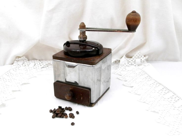 Vintage French Peugeot Fréres Stainless Steel Bakelite and Wooden Coffee Grinder, Kitchenware Decor, Kitchen, Retro, Style, Industrial by VintageDecorFrancais on Etsy