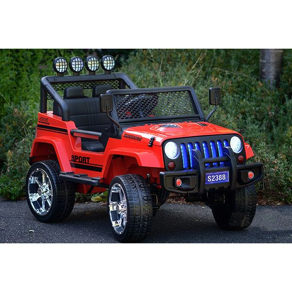 Kids Jeep Style Electric Ride On 4wd Car In Red 24v Kids Jeep
