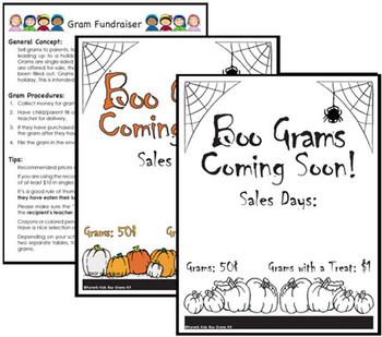 fundraising kit boo grams kit - Halloween Fundraiser Ideas