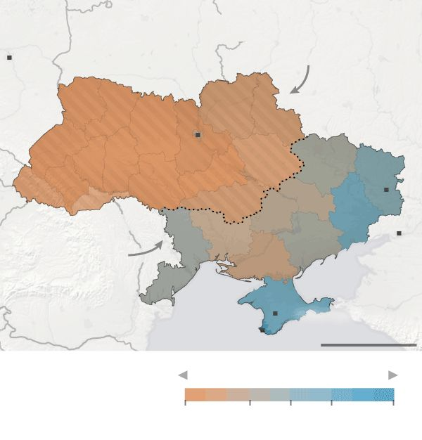 Ukraine in Maps  (gas pipelines, language, Russian military bases/influence, etc)