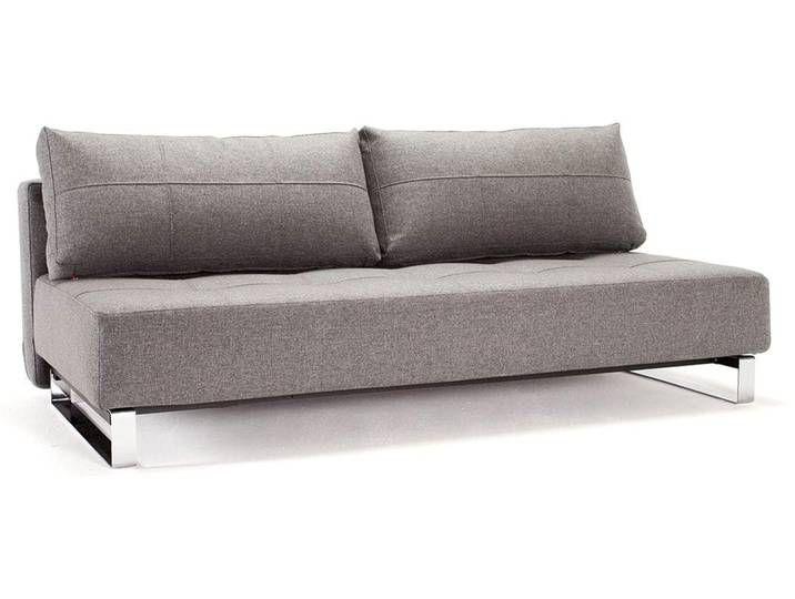 Innovation Supremax Deluxe Schlafsofa 563 200x115x70cm Grau Sofa