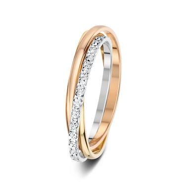 Ein ganz zierlicher Tricolor Ring <3  Ehering Montoro Nr 1 - 3 Tones 18 Karat 1,5mm