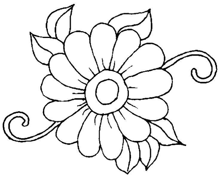 13 besten Blumen Ausmalbilder Bilder auf Pinterest ...